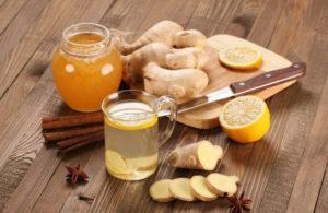 чай имбирь и мед