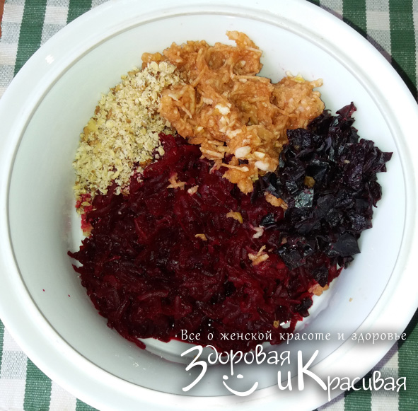 Салат из свеклы, моркови и лука - рецепт пошаговый с фото