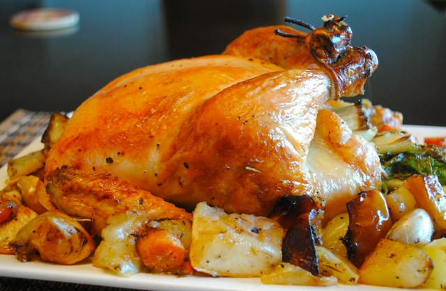 рецепт с фото курица в духовке целая