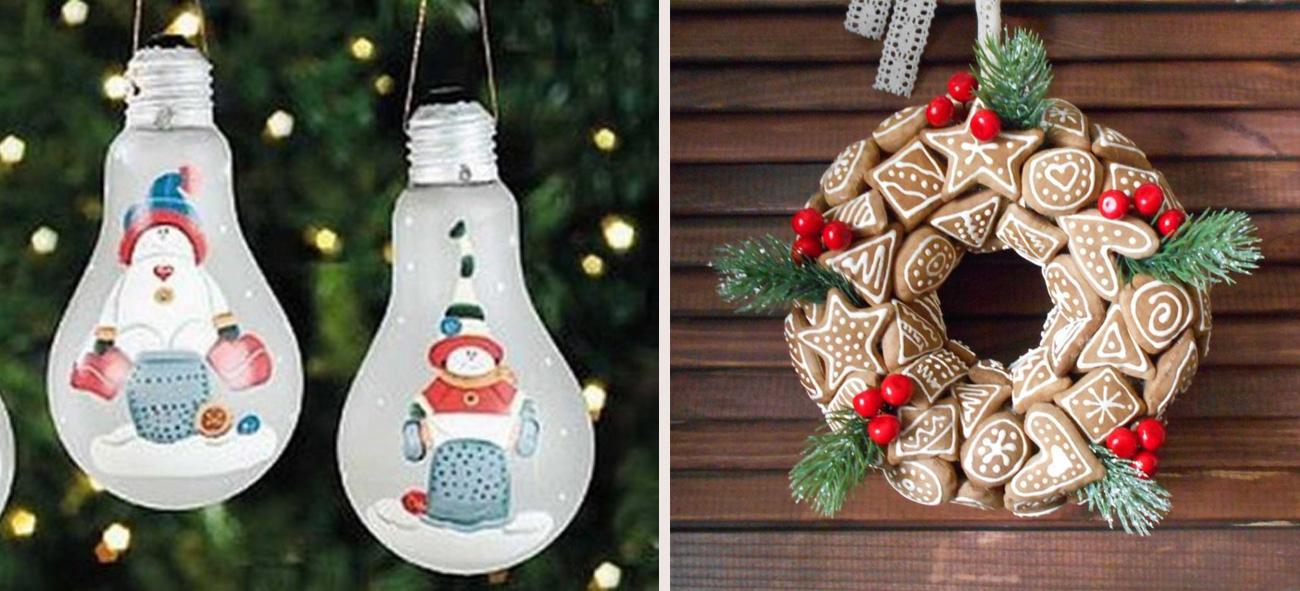 Как украсить дом к Новому году своими руками? Идеи из подручных материалов
