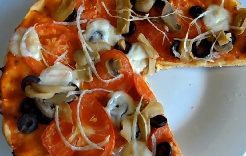 Пицца на тесте из овсянки