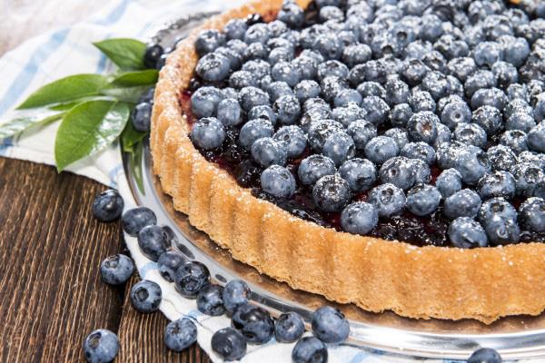Открытый черничный пирог - рецепт пошаговый с фото