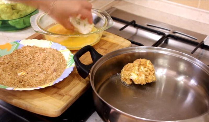 Способ приготовления цветной капусты на сковороде