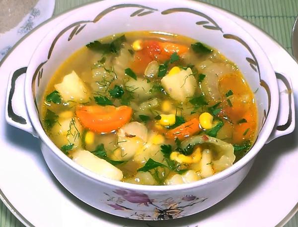 нарушение суп овощной рецепт с фото пошагово восприятие