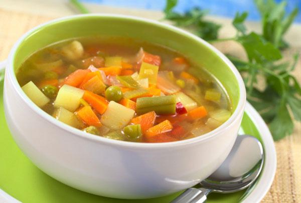 Легкий овощной суп рецепт
