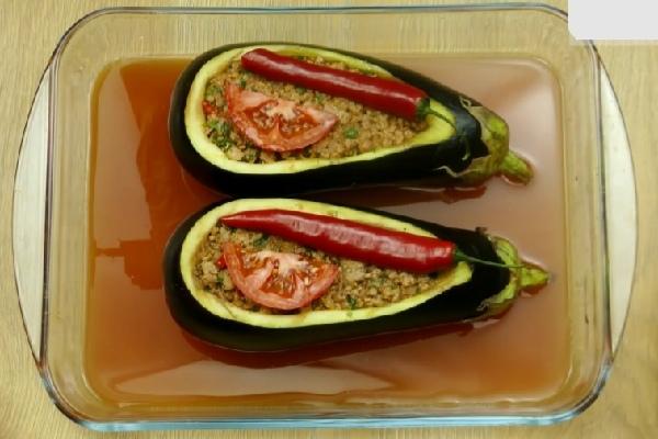 Помидоры фаршированные баклажанами - рецепт пошаговый с фото