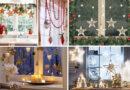 Украшения окон на новый год 2020 своими руками. Шаблоны, трафареты и идеи новогодних украшений.
