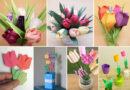 Как сделать тюльпаны из бумаги своими руками – лучшие идеи, схемы и шаблоны простых тюльпанов