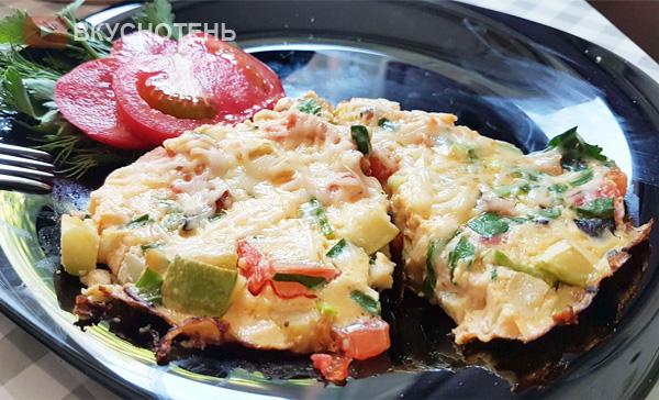 Фриттата – быстрый завтрак по-итальянски или омлет с овощами