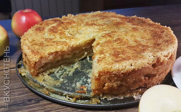 Пирог с яблоками в духовке быстро и вкусно – лучшие рецепты яблочного пирога!