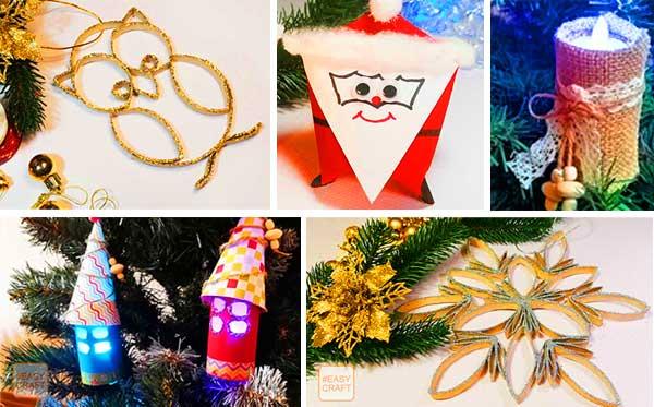 Новогодние поделки из втулок от бумаги – красивые поделки для детей и взрослых на Новый год 2021!