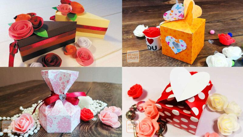 Как сделать коробочки для подарков из бумаги своими руками с шаблонами и трафаретами для распечатки